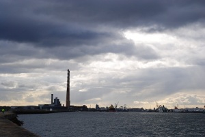 Ringsend chimneys and brooding sky 500