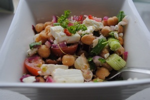 Chickpea. Feta and Herb Salad