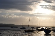 Evening Sky over Skerries Harbour