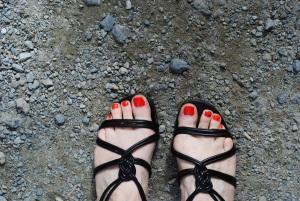 My Unsuitable footwear, Glendalough