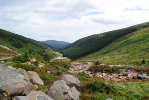 View of Glendalough Valley from Miners`Village