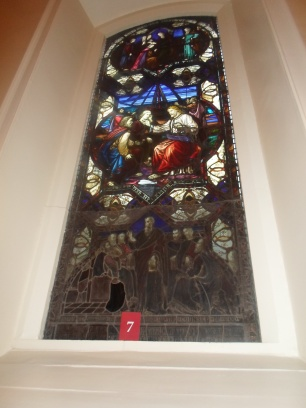 Stained glass, St Anne`s Dawson St