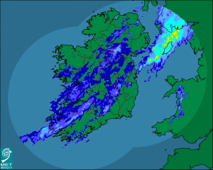 Rainfall Ireland Sept 15th