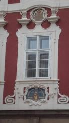 Detail on building opposite St James`s church