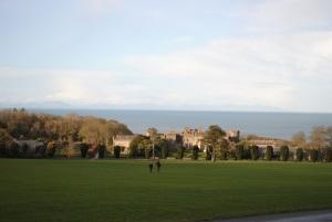 Ardgillen Castle overlooking the Irish Sea