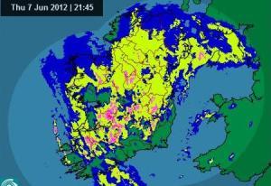 Rainfall-radar-shot