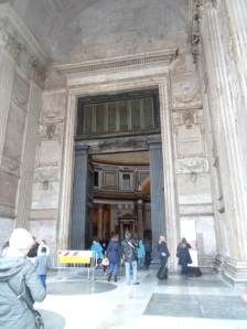 First Glimpse of Pantheon interior