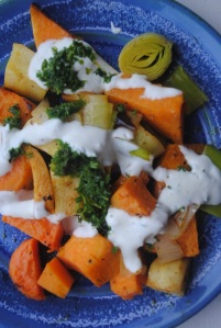 Spiced Root Vegetables with Lime and Mint