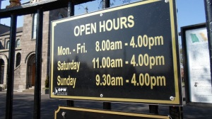 Arbour Hill opening hours