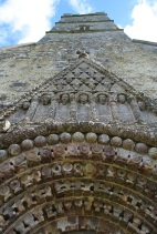 Looking up from Clonfert Cathedral doorway