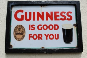 A typical advertisment for Guinness