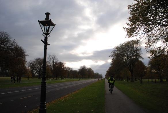Cyclist Chesterfield Avenue